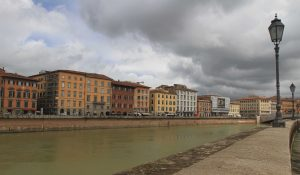 The Arno River in Pisa.