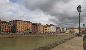 The Arno River in Pisa.