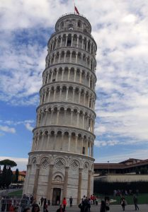 Another view of the Leaning Tower of Pisa.