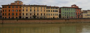 Colorful buildings on the other side of the Arno.
