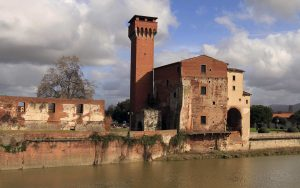"""Guelph Tower and the Cittadella Vecchia (""""Old Citadel"""")."""