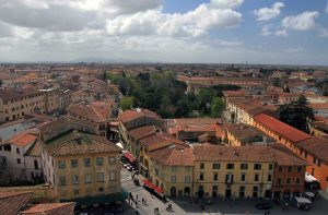 View of Pisa from the Leaning Tower.