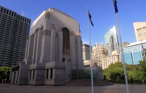Another view of the ANZAC War Memorial, which was completed in 1934 AD.