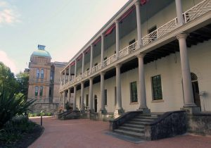 The Sydney Mint; originally built in 1816 AD as a hospital wing, it was repurposed in 1854 AD as a Royal Mint.