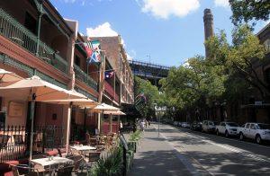 George Street, approaching Sydney Harbour Bridge.