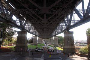 Underneath Sydney Harbour Bridge.