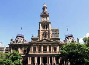 Sydney Town Hall; built in the 1880s, it was the premiere concert hall in Sydney until the iconic Opera House was completed.