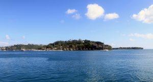 Looking at the resort on Iririki Island in Vila Bay.
