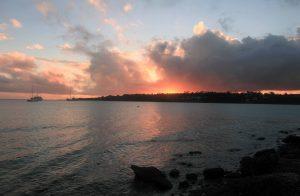 Vila Bay at sunset.