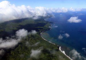 The southern coast on Ambrym Island.