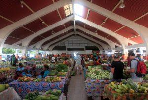 The market in Port Vila.
