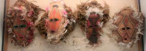 Various masks in Vanuatu's National Museum.