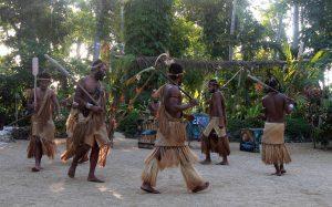 Traditional dance at Ekasup Cultural Village.