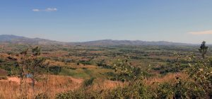 Looking west, toward the mountains in Koroyanitu National Heritage Park, from an overlook on the way to Navala.