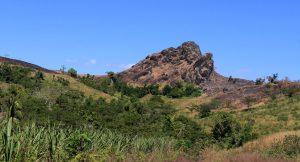 A rocky outcrop.
